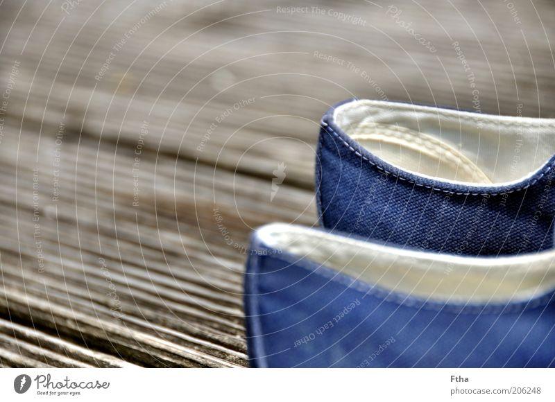 Konvers weiß blau Holz grau Schuhe Stoff Steg Holzbrett Chucks Turnschuh Naht Damenschuhe weiß-blau
