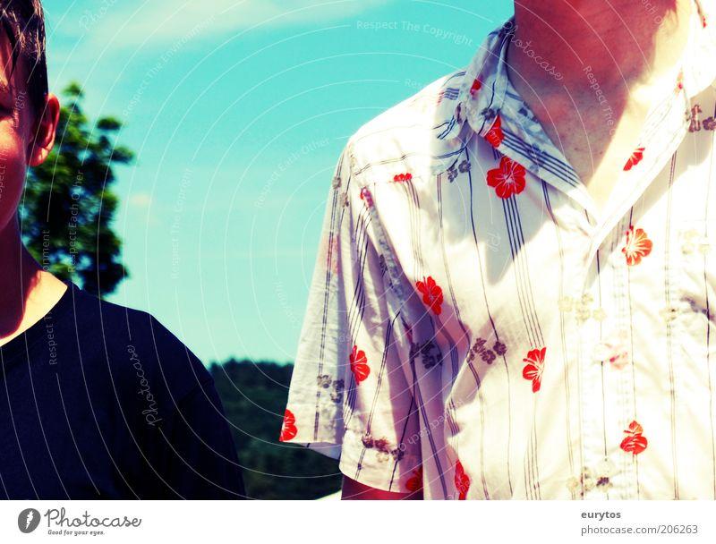 Freunde Mensch maskulin Kind Junger Mann Jugendliche Kopf 2 13-18 Jahre Zusammensein positiv dünn Stimmung Farbfoto Außenaufnahme Lomografie Holga Tag Schatten