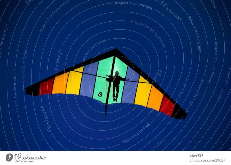 High Flyer Mann Himmel blau Sport oben fliegen hoch Hängegleiter Drachenfliegen