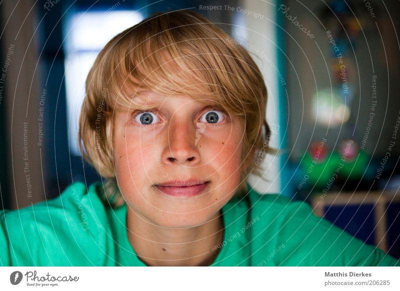 Braun Mensch Kind blau Gesicht Auge Junge Zufriedenheit Stimmung blond maskulin Fröhlichkeit Neugier Kindheit leuchten Freundlichkeit direkt
