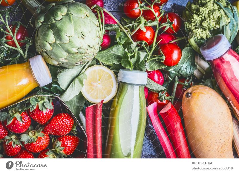 Gesundes Essen und Trinken Natur Sommer Gesunde Ernährung Leben gelb Gesundheit Stil Lebensmittel Design Frucht Fitness Getränk trinken Gemüse