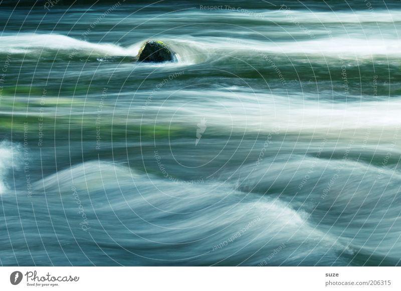 Vollrausch Wellen Kunst Gemälde Umwelt Natur Landschaft Wasser Klima Flussufer Stein Linie Streifen außergewöhnlich fantastisch kalt nachhaltig nass natürlich