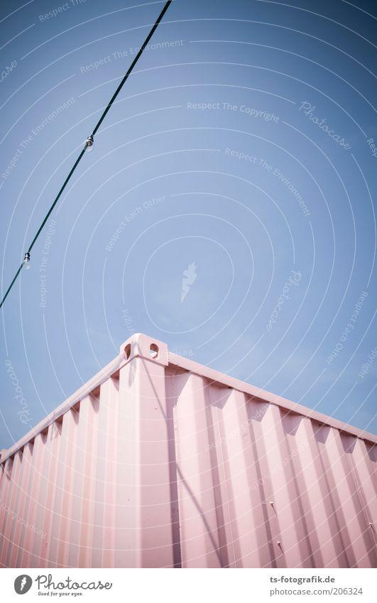 Pink Box Verkehr Güterverkehr & Logistik Container Kasten Metall Stahl Behälter u. Gefäße ästhetisch außergewöhnlich eckig groß rosa geschlossen Farbe Farbfoto