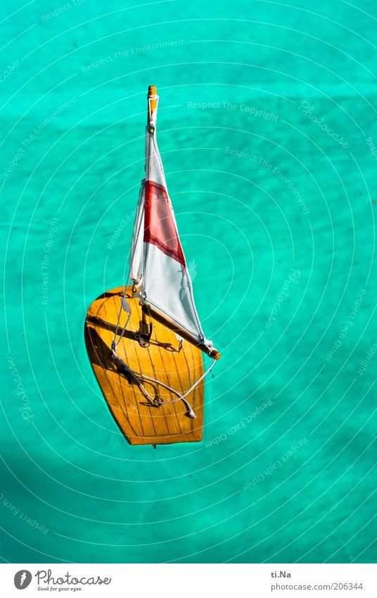 in meinem Planschbecken Wasser schön blau Sommer Ferien & Urlaub & Reisen Erholung hell Tourismus Freizeit & Hobby Wasserfahrzeug Segeln türkis Kreativität Schönes Wetter Segel Segelboot