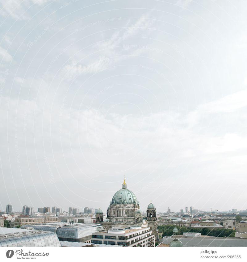 schicker schinkel Himmel blau Sommer Ferien & Urlaub & Reisen Haus Berlin Kunst Hochhaus Kirche Tourismus Dach Kultur Skyline Wahrzeichen Schönes Wetter Dom