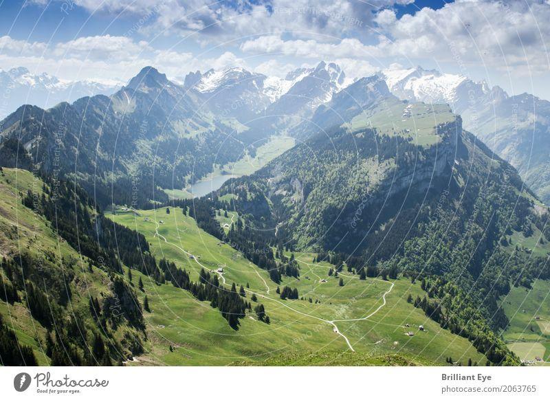 überragende Schweizer Berge Natur Ferien & Urlaub & Reisen Sommer Landschaft Wolken Ferne Berge u. Gebirge Frühling außergewöhnlich Freiheit Tourismus Ausflug