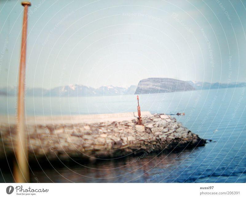 Cape Fear Wasser Himmel Meer Stein See Felsen Steg Seeufer Mast Fahnenmast Buhne steinig Wasserfahrzeug Wasseroberfläche Steinmauer