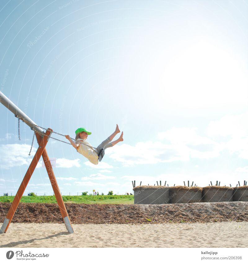 ein jahr später Mensch Kind Natur Mädchen Sommer Wiese Leben Umwelt Spielen Landschaft Sand Wetter Kindheit Zufriedenheit Freizeit & Hobby fliegen