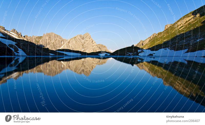 Guflsee Natur Wasser blau ruhig Erholung kalt Freiheit Berge u. Gebirge Landschaft träumen Luft See frisch Klarheit Alpen rein