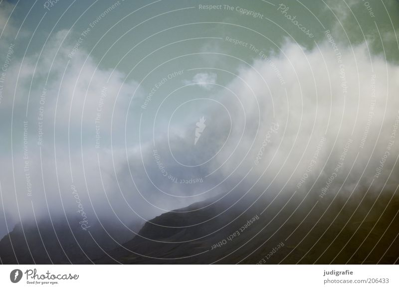 Island Umwelt Natur Landschaft Himmel Wolken Klima Berge u. Gebirge bedrohlich dunkel natürlich Stimmung Endzeitstimmung Farbfoto Außenaufnahme Tag Wolkenhimmel