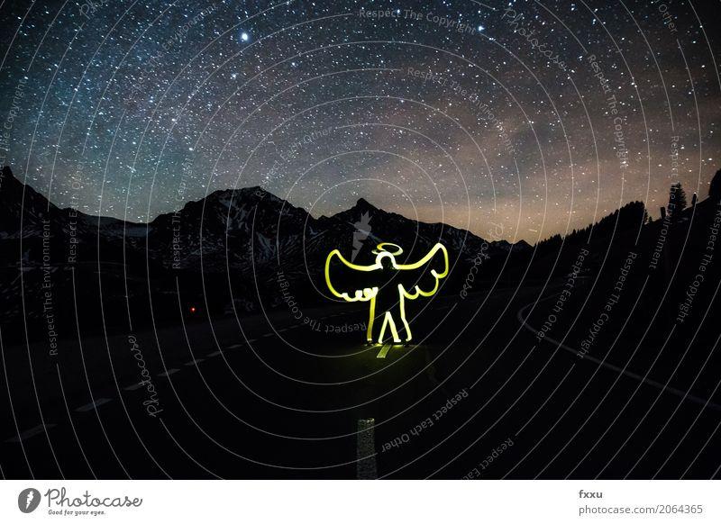 Schutzengel Mensch Körper 1 Natur Landschaft Stern Alpen Berge u. Gebirge Verkehr Autofahren Straße Engel Tugend Willensstärke Mut Vertrauen Sicherheit