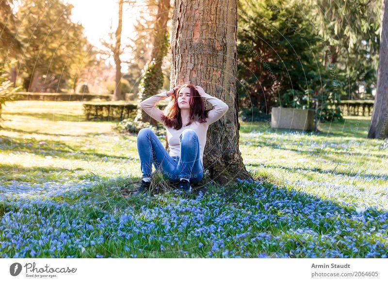Porträt - Frühling Lifestyle Stil Freude Glück schön Gesundheit Leben harmonisch Wohlgefühl Zufriedenheit Sinnesorgane Erholung ruhig Meditation Duft Mensch