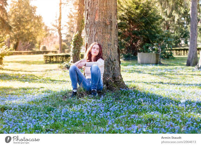 Frühling - Porträt Lifestyle Stil Freude Glück schön Gesundheit Leben harmonisch Wohlgefühl Zufriedenheit Sinnesorgane Erholung ruhig Meditation Duft Mensch