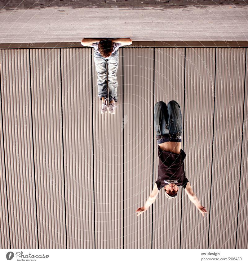 650th - SUBURBAN DOUBLE CHILL Mensch Jugendliche Freude ruhig springen Freundschaft Linie Metall Erwachsene maskulin Fassade Geschwindigkeit sitzen Lifestyle