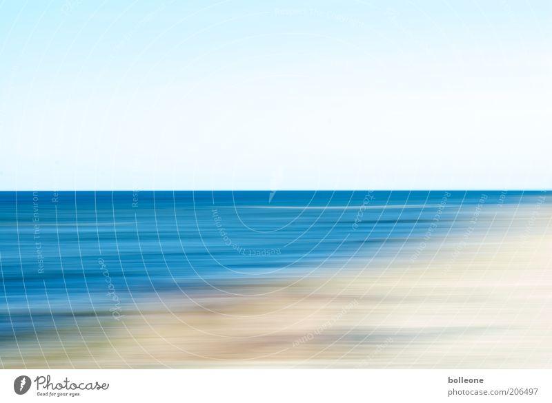 Wisch&Wech VII Natur Wasser Himmel blau Sommer Strand Ferien & Urlaub & Reisen Einsamkeit Bewegung Freiheit Landschaft Wellen Küste Umwelt Horizont ästhetisch