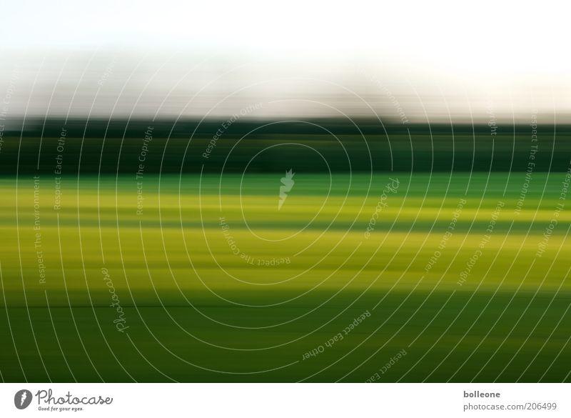 Wisch&Wech VIII Natur Himmel grün blau Sommer gelb Landschaft Luft Feld Umwelt Erde Geschwindigkeit ästhetisch abstrakt Bewegungsunschärfe