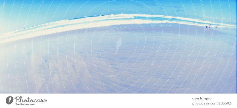 so weit Mensch blau Sommer Ferien & Urlaub & Reisen Meer ruhig Ferne Freiheit Sand Wärme Wellen Horizont Ausflug Insel Tourismus Unendlichkeit