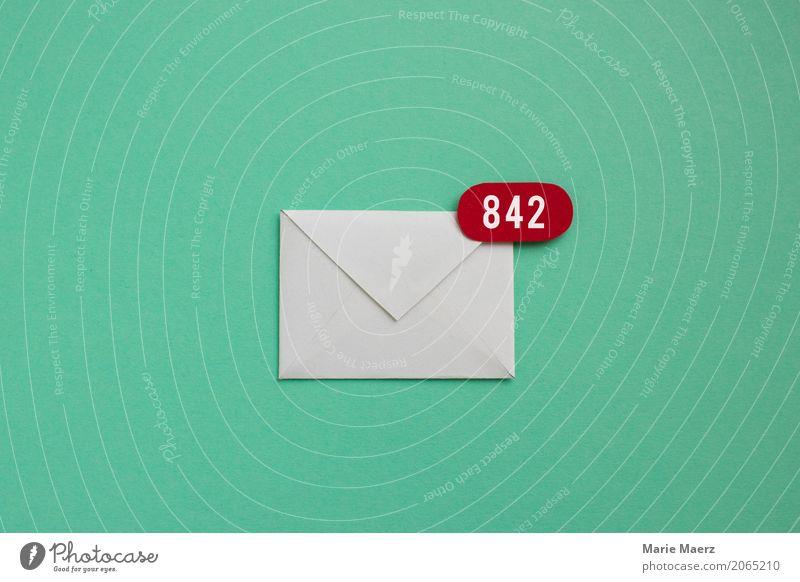 Ungelesene E-Mails grün sprechen außergewöhnlich Zeit Arbeit & Erwerbstätigkeit Büro Kommunizieren warten schreiben viele Stress Brief Post Leistung