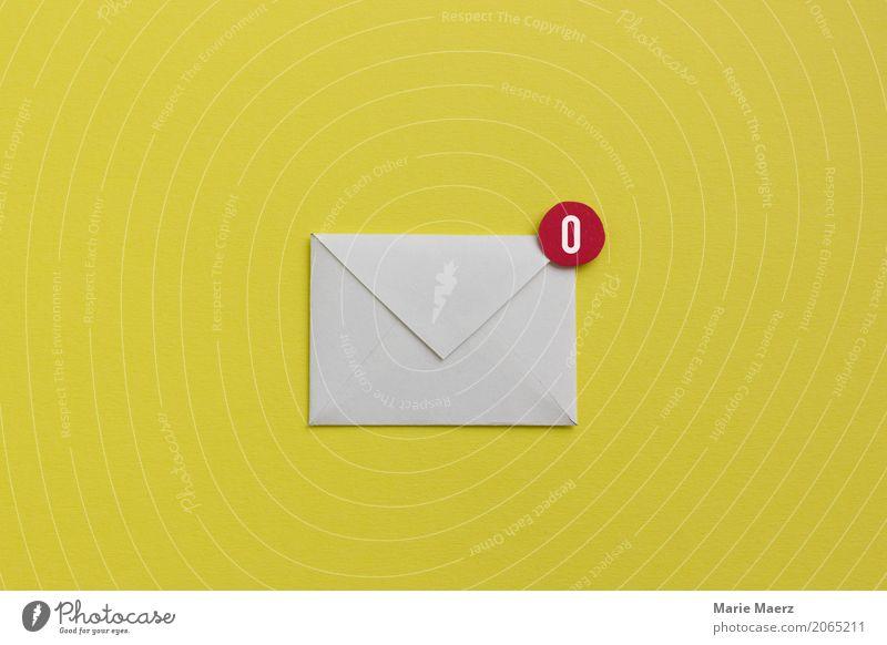 Leerer Posteingang Erholung gelb modern frisch Ordnung Kommunizieren Erfolg Telekommunikation leer Papier lesen Ziel Symbole & Metaphern schreiben trendy