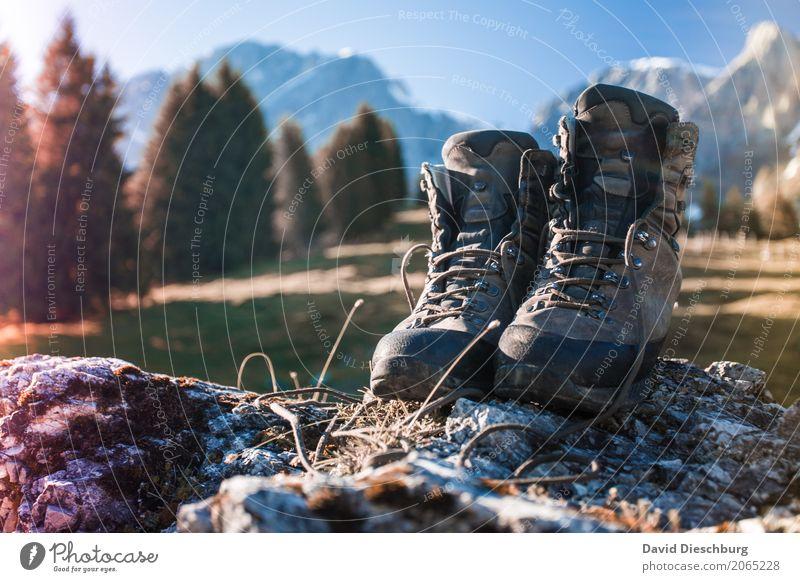 Ruf der Berge Ferien & Urlaub & Reisen Pflanze Sommer Baum Landschaft Erholung Berge u. Gebirge Frühling Wiese Bewegung Gras Tourismus Felsen Ausflug wandern
