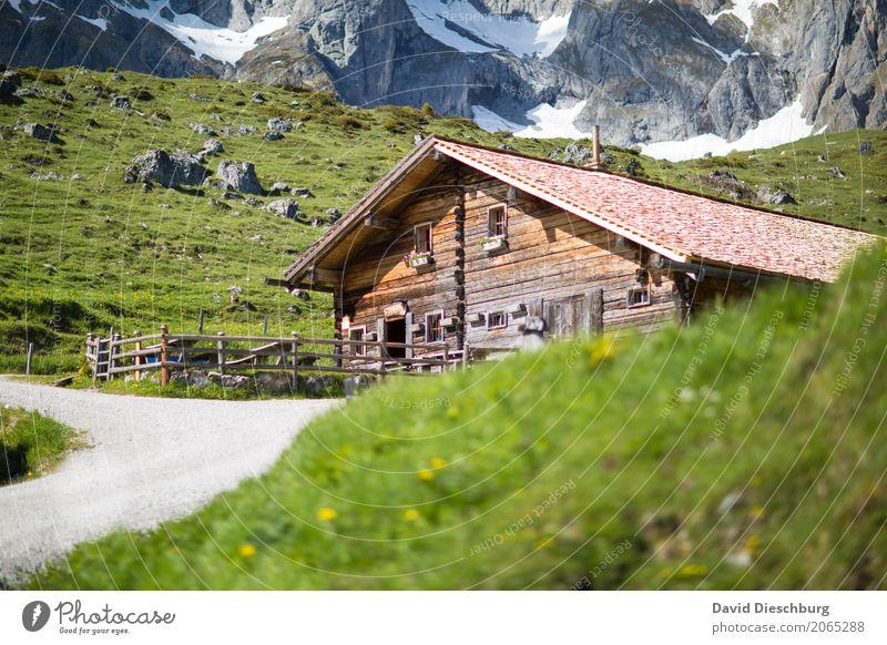 Einkehrmöglichkeit Ferien & Urlaub & Reisen Tourismus Ausflug Abenteuer Expedition Sommerurlaub Berge u. Gebirge wandern Natur Frühling Schönes Wetter Gras