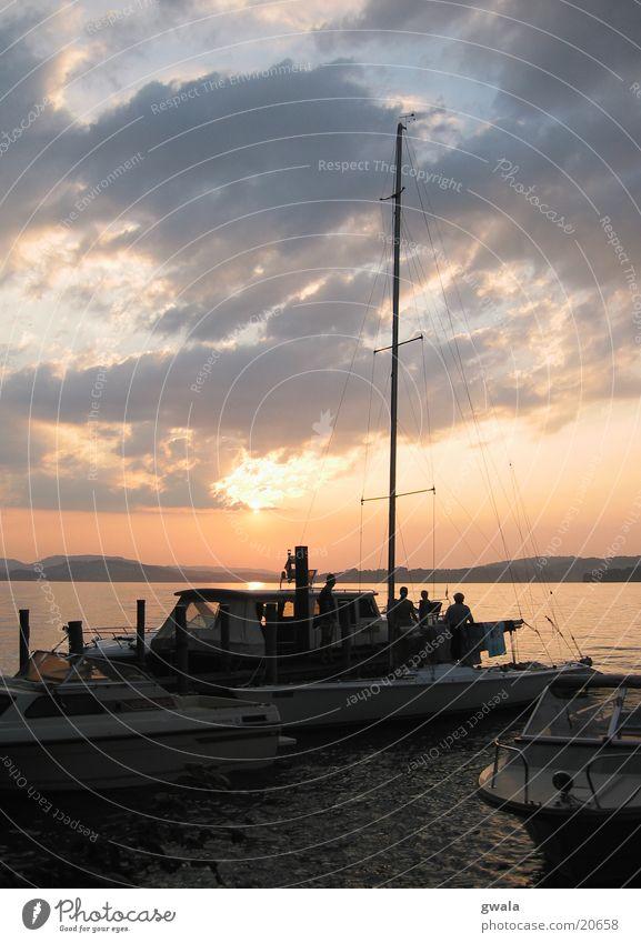 segelmontag Wasser Wasserfahrzeug Segeln Segelschiff Abendsonne Regatta Vierwaldstätter See