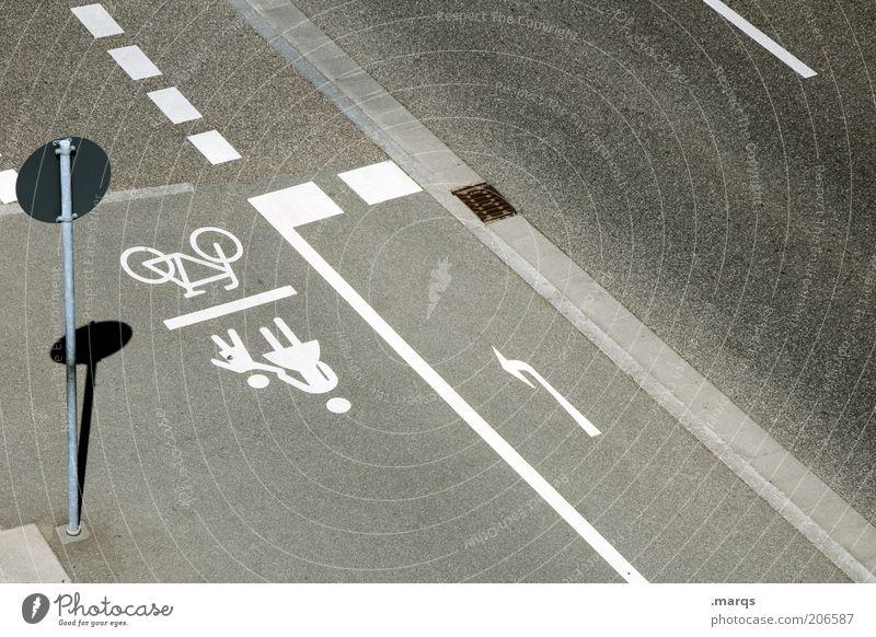 Straßenfeger Wege & Pfade Linie Straßenverkehr Schilder & Markierungen Verkehr einfach Streifen Pfeil Bürgersteig Hinweisschild Verkehrswege Fußweg Gully