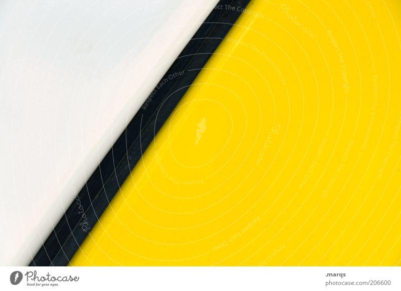 Simplicity weiß schwarz gelb Farbe Stil Linie Hintergrundbild Design Lifestyle Ordnung ästhetisch einfach Streifen Grafik u. Illustration positiv abstrakt