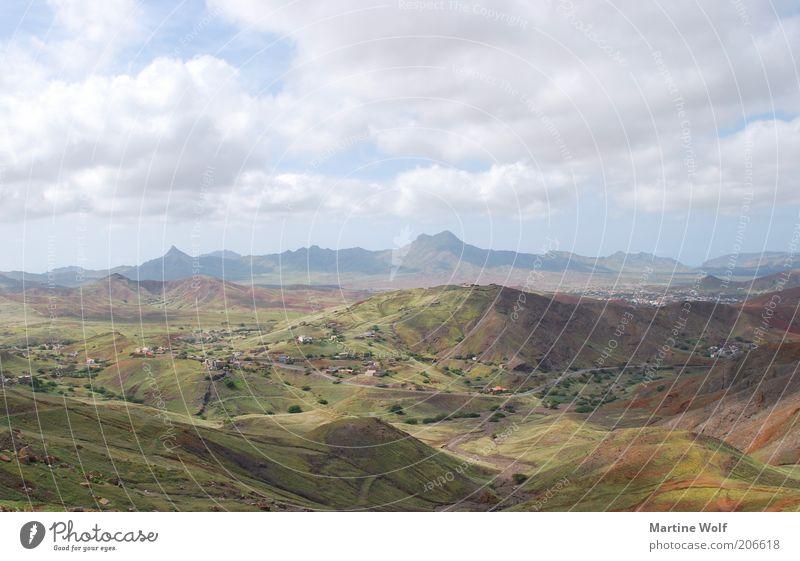 Sao Vicente Ferien & Urlaub & Reisen Ausflug Ferne Freiheit Berge u. Gebirge Natur Landschaft Himmel Wolken Hügel São Vicente Cabo Verde Afrika Menschenleer