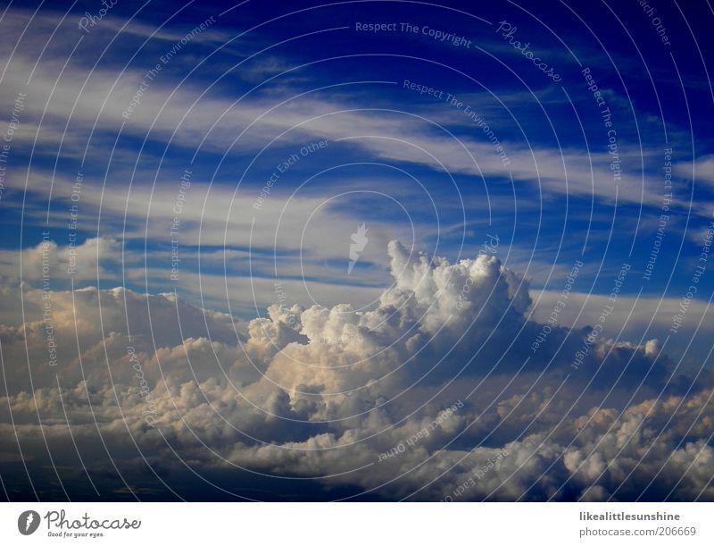 Wolken weiß blau Luft Schönes Wetter Leichtigkeit Blauer Himmel Luftaufnahme nur Himmel