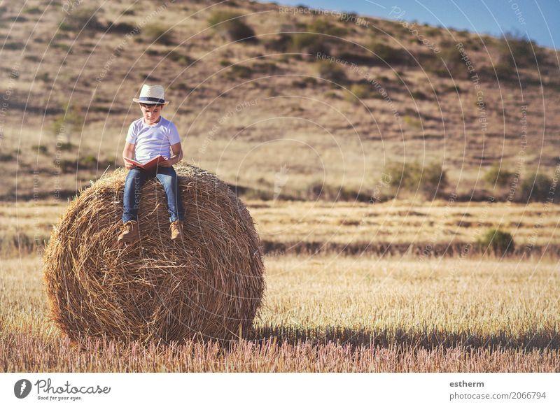 Mensch Kind Ferien & Urlaub & Reisen Freude Lifestyle Junge Spielen Freizeit & Hobby maskulin Kindheit sitzen Fröhlichkeit genießen Abenteuer lernen Papier