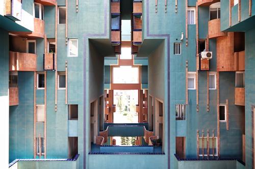 Walden 72 blau Stadt Farbe Haus Architektur Wand Gebäude Mauer Design Wohnung Häusliches Leben Treppe Kreativität fantastisch einzigartig Beton