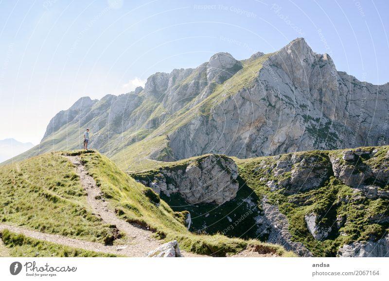 Slowenien II Mensch Natur Ferien & Urlaub & Reisen Jugendliche Sommer Sonne Junger Mann Landschaft Erholung Einsamkeit Ferne 18-30 Jahre Berge u. Gebirge