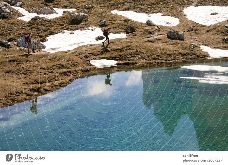 Doppelte Doppelgänger Mensch Natur Ferien & Urlaub & Reisen Landschaft Berge u. Gebirge Umwelt See Felsen Freizeit & Hobby wandern Schönes Wetter Alpen