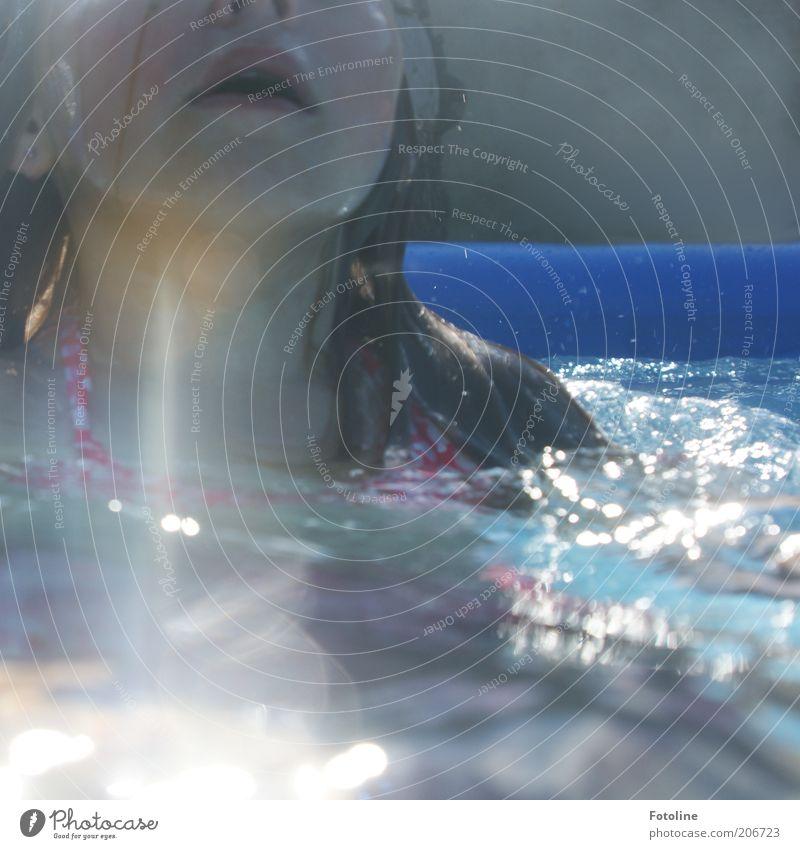 aufgetaucht Schwimmen & Baden Freizeit & Hobby Sommer Sommerurlaub Mensch feminin Kind Mädchen Kindheit Haut Kopf Haare & Frisuren Gesicht Mund Lippen hell nass