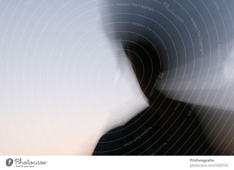 Halb Mensch Geister u. Gespenster anonym Identität Junger Mann gesichtslos Bewegungsunschärfe Licht unkenntlich unerkannt Schattenseite Schattendasein Alter Ego