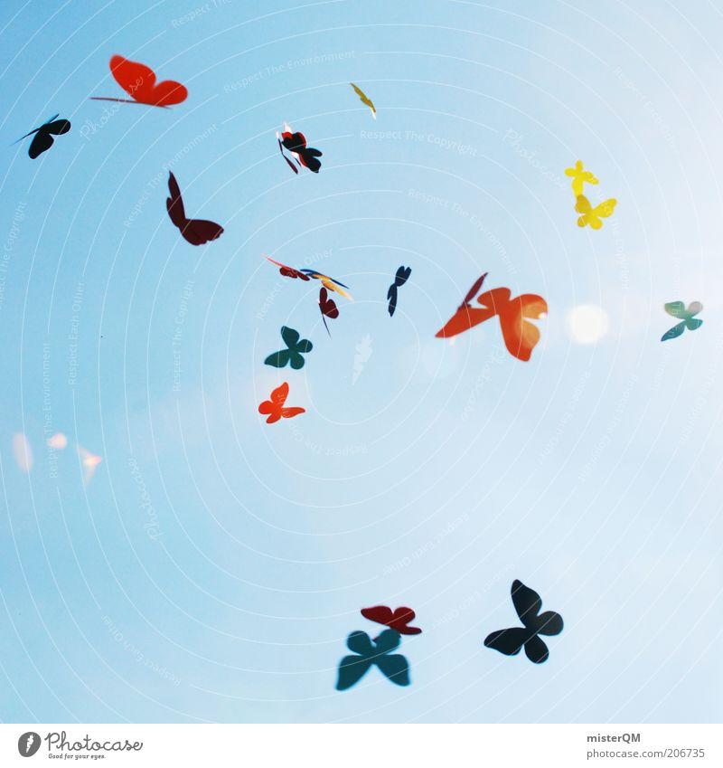 Dreams of Summer. Himmel blau Sommer Freude Liebe Leben Spielen Freiheit träumen Luft Kunst Design fliegen mehrfarbig ästhetisch Frieden