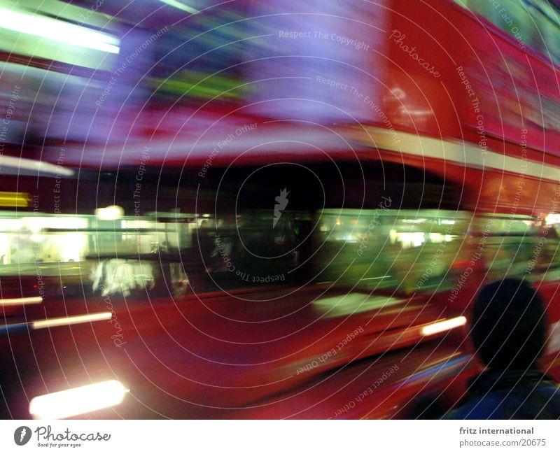 unscharfes London Stadt Bewegung Verkehr Europa Bus