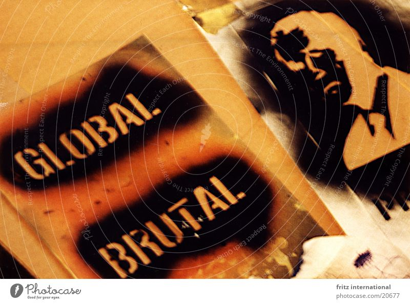 Onkel Schorsch global Globalisierung Krieg schwarz Ausstellung bush george USA profile intermedia Farbe