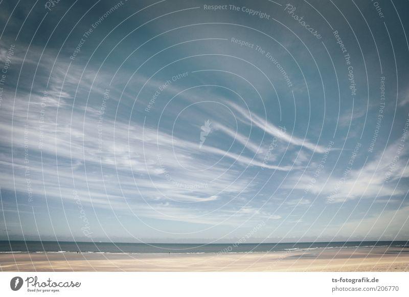 Gekonnte Pinselführung Natur Himmel Meer blau Sommer Strand Ferien & Urlaub & Reisen ruhig Wolken Ferne Freiheit Landschaft Wellen Küste Umwelt Horizont