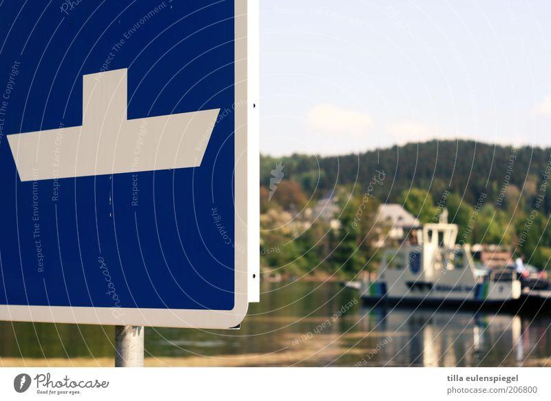 eine Bootsfahrt die ist lustig... Natur Wasser Sommer Ferien & Urlaub & Reisen Schilder & Markierungen Verkehr Ausflug Güterverkehr & Logistik Fluss