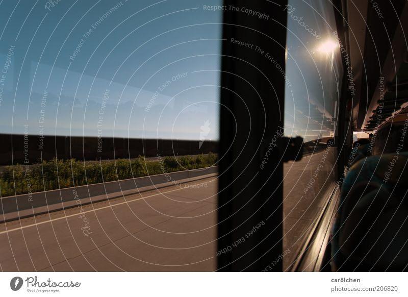 by the way... blau Ferien & Urlaub & Reisen Straße Wege & Pfade braun Straßenverkehr Verkehr Geschwindigkeit fahren Autobahn Verkehrswege Bus Autofahren