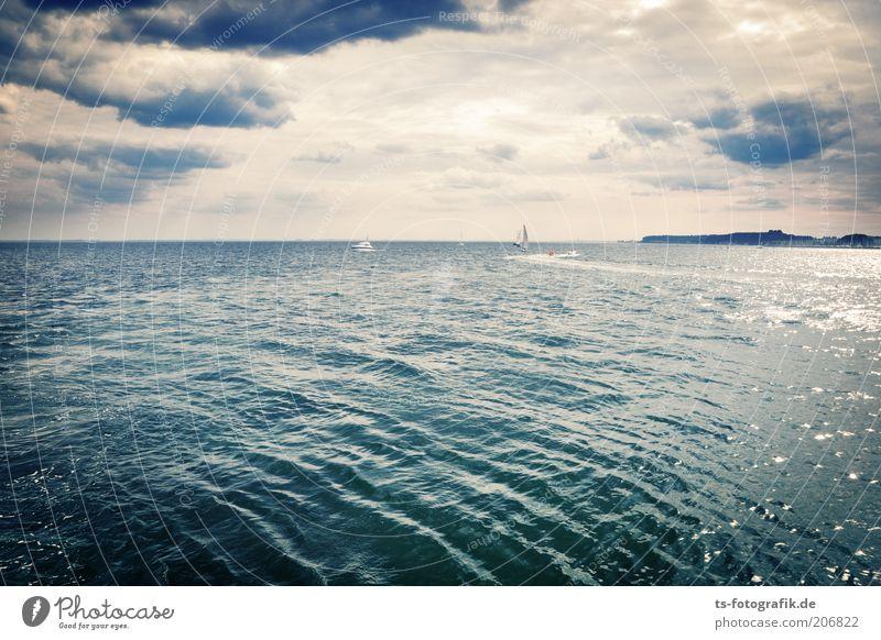 Seh-Fahrer II Ferien & Urlaub & Reisen Tourismus Ferne Sommerurlaub Meer Insel Wellen Natur Landschaft Urelemente Wasser Wolken Gewitterwolken Horizont Wind