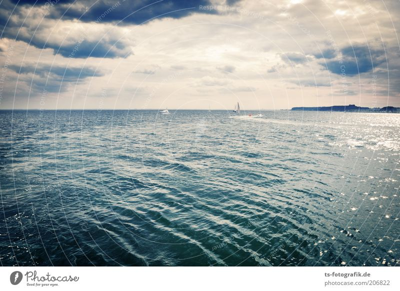 Seh-Fahrer II Natur Wasser Meer blau Ferien & Urlaub & Reisen Wolken Ferne Landschaft Wellen Küste Wind Horizont Insel Tourismus Sturm Gemälde