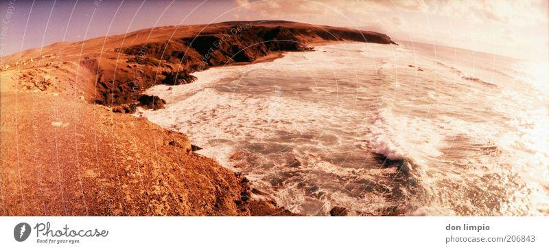 La Pared Meer rot Sommer Strand Ferien & Urlaub & Reisen Wolken Ferne Landschaft Wellen Horizont Felsen Ausflug Insel Tourismus wild Unendlichkeit