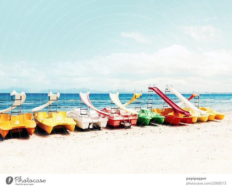 Tretboote Freizeit & Hobby Ferien & Urlaub & Reisen Tourismus Ausflug Ferne Sommer Sommerurlaub Strand Meer Wellen Sport Fitness Sport-Training Wassersport