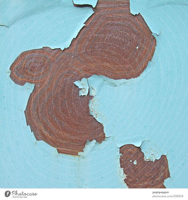 Rostmaserung Metall alt nass Verfall Vergänglichkeit Wandel & Veränderung Zerstörung Maserung Farbfoto Außenaufnahme Detailaufnahme abstrakt Muster