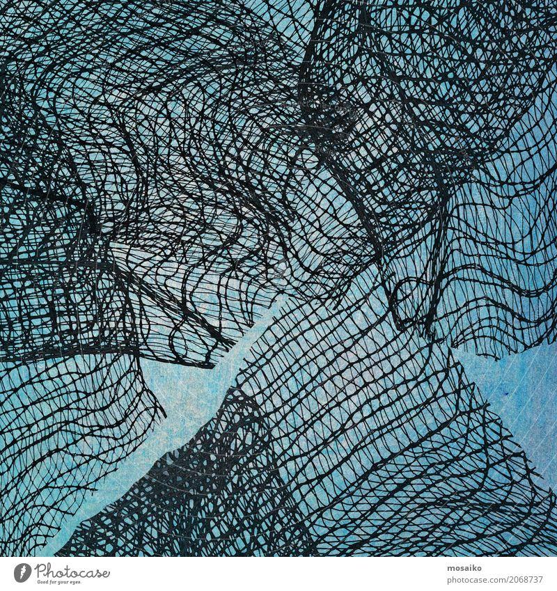Nettodesign - abstrakter Hintergrunddesign alt blau schwarz Stil Kunst Mode Design Linie elegant Dekoration & Verzierung retro Kreativität Armut