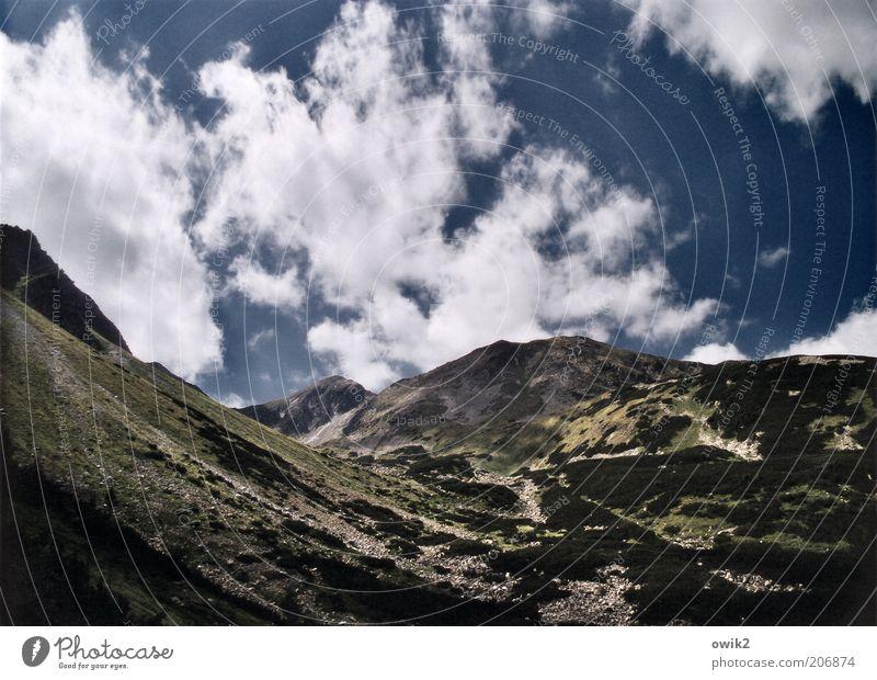 Unter den Wolken Natur Himmel Sommer Ferien & Urlaub & Reisen ruhig Ferne oben Berge u. Gebirge Freiheit Wärme Landschaft Wetter Umwelt hoch
