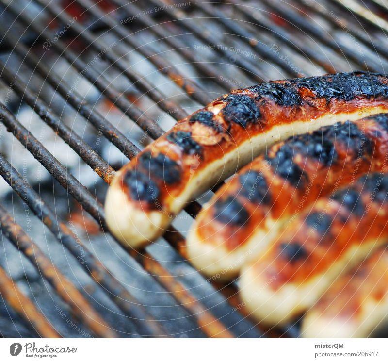 Eine geht noch... Ernährung Wärme Kochen & Garen & Backen Freizeit & Hobby heiß Duft Grillen Geruch Wurstwaren Bratwurst Grillrost ungesund Makroaufnahme